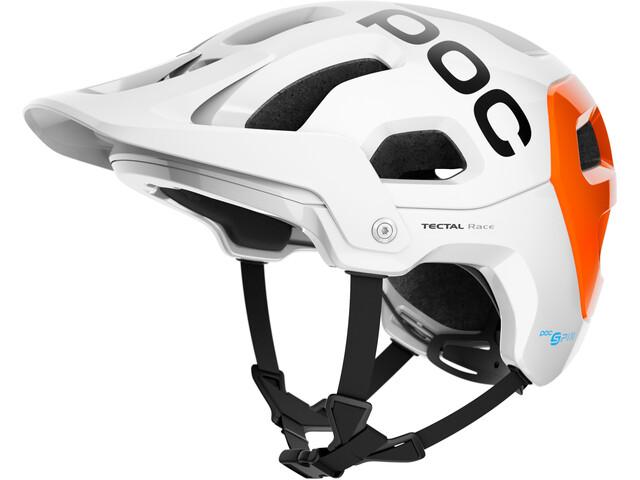 POC Tectal Race Spin NFC Helmet hydrogen white/fluorescent orange avip